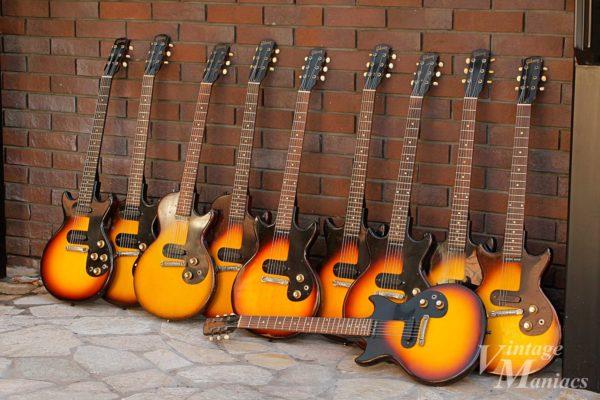壁際に10本ならべたメロディーメーカー