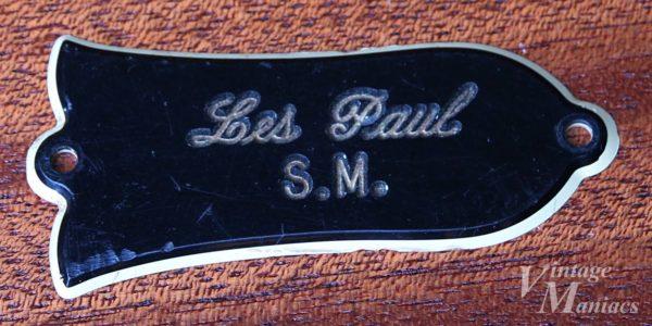 Les Paul S.M.刻印のトラスロッドカバー