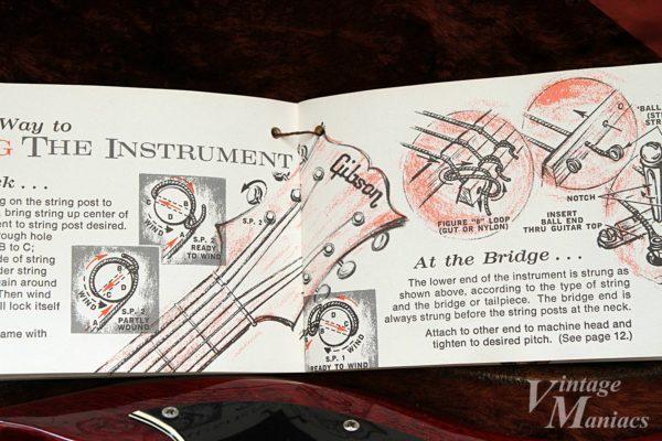 弦交換の手順を説明したイラスト