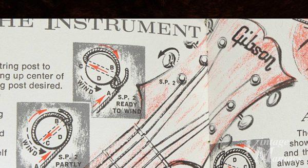 ペグポストへ弦を巻きつける図解