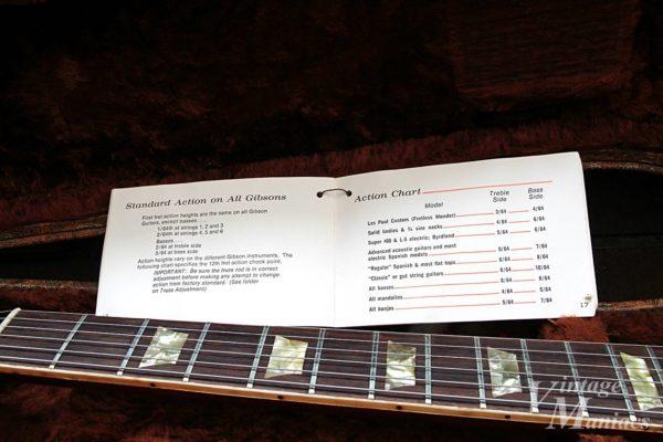 各ギターの仕様を説明したページ