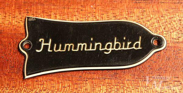 Gibson Hummingbirdのトラスロッドカバー