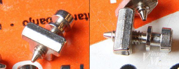 弦との接地面積が広いフラットヘッド・タイプのサドル