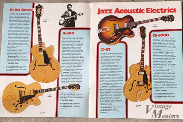 ギルドのカタログに掲載されたジャズギター