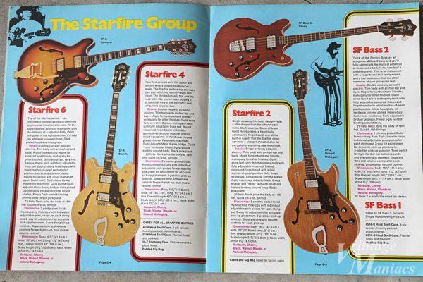 ギルドのカタログに掲載されたStarfireとSF Bass