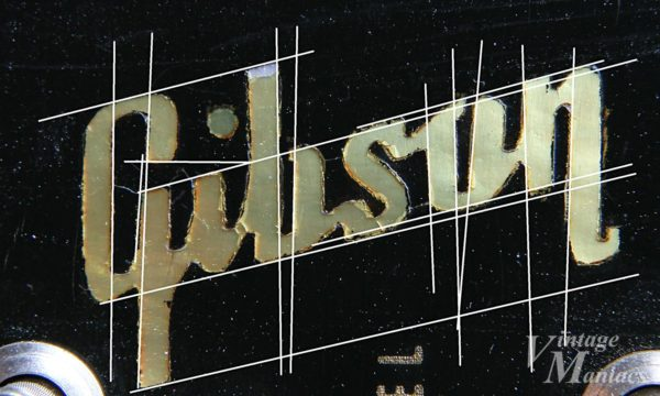 ガイドラインを引いたGibsonロゴ