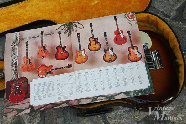 EpiphoneカタログのElectric Spanish Guitarsのページ