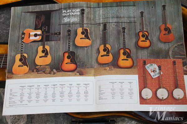 EpiphoneカタログのFtat Top Guitarsのページ