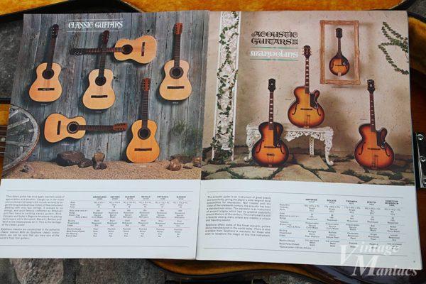 EpiphoneカタログのClassic GuitarsとAcoustic Guitarsのページ