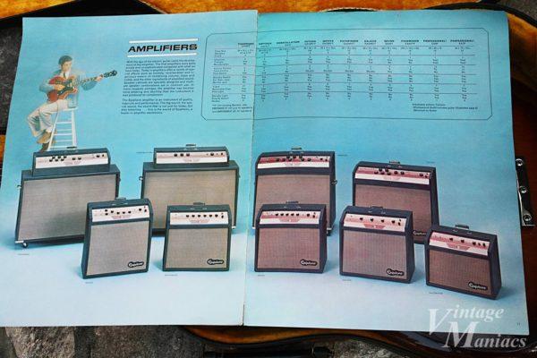 カタログに掲載されたエピフォンのアンプ