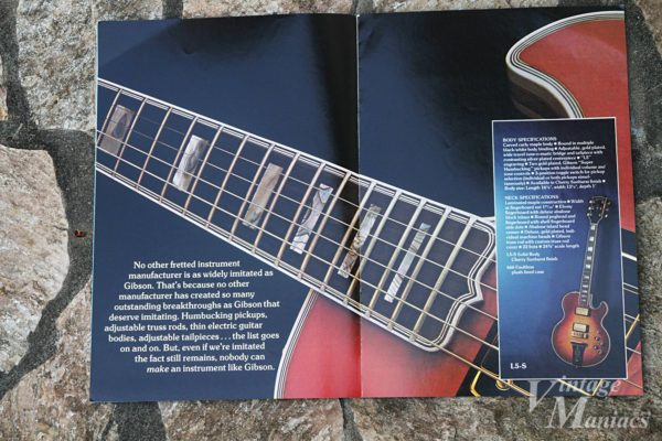 Gibson L-5Sのカタログ写真