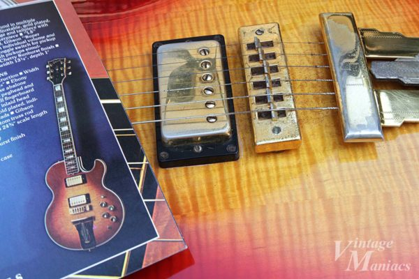 Gibson L-5Sのカタログ写真と実物写真