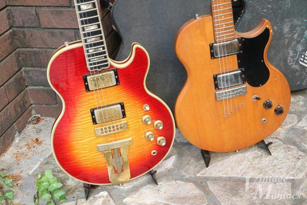 Gibson L-5SとL-6Sを並べた写真