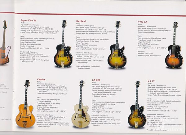 Gibson Citationが掲載されたカタログ