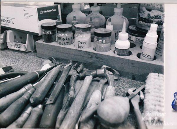 ギブソンの工場で使われている工具類
