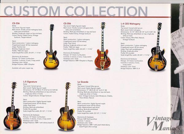 カスタムショップのジャズギター