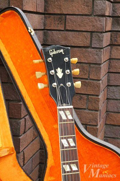 Gibson ES-175のヘッドストックとネック