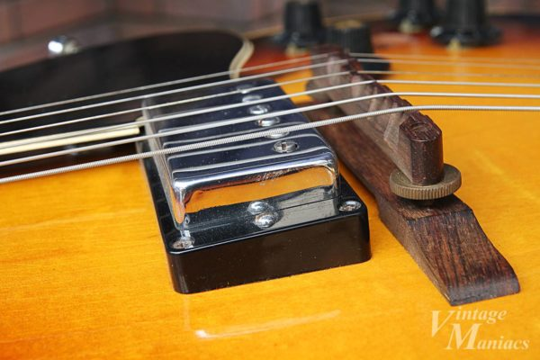 Gibson ES-175のブリッジまわり