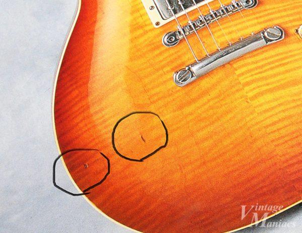 ギターのボディの打痕