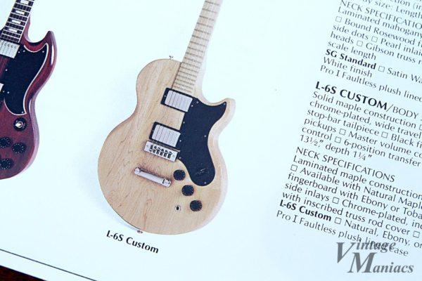 カタログに掲載されたGibson L-6S Custom