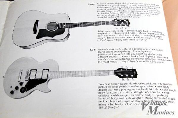 カタログに掲載されたGibson L-6SとGospel