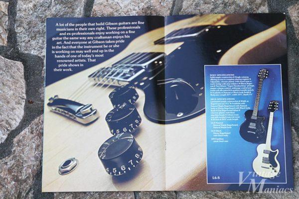 カタログのGibson L-6Sのカラーページ