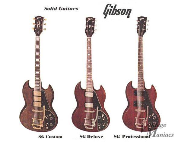 ギブソンのSGラインナップが掲載されたカタログ