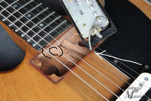 Gibson The SGのピックアップキャビティ