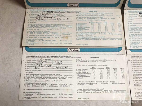 ギブソンの保証書