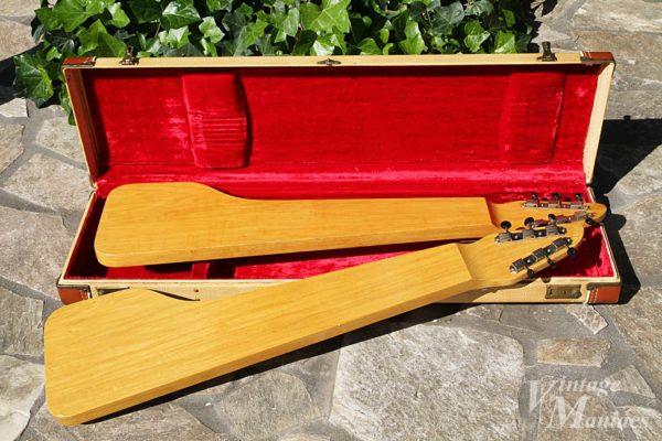 ラップスティールギターの裏側のコリーナ材