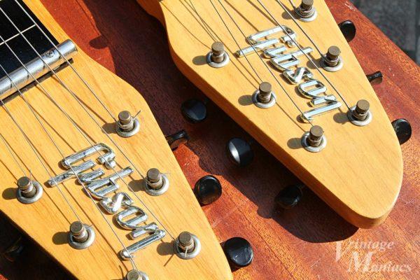 ラップスティールギターのヘッドストック