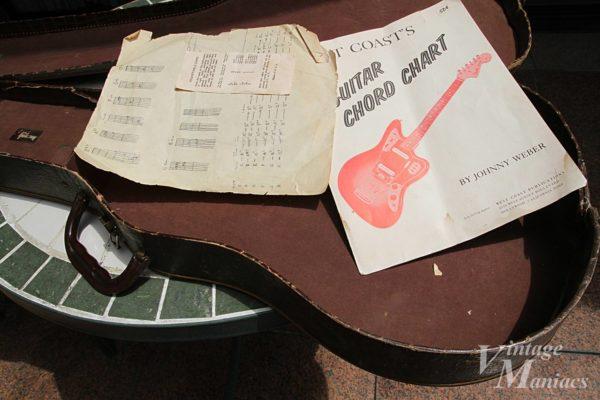 ギターケースの中に入っていた手書きの譜面