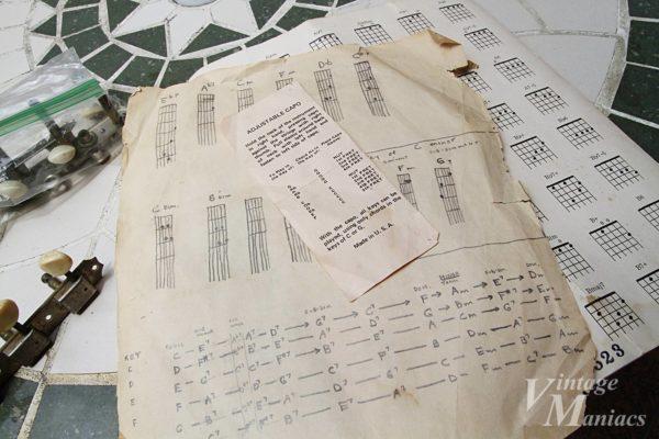 古いギターのケースから出てきた譜面