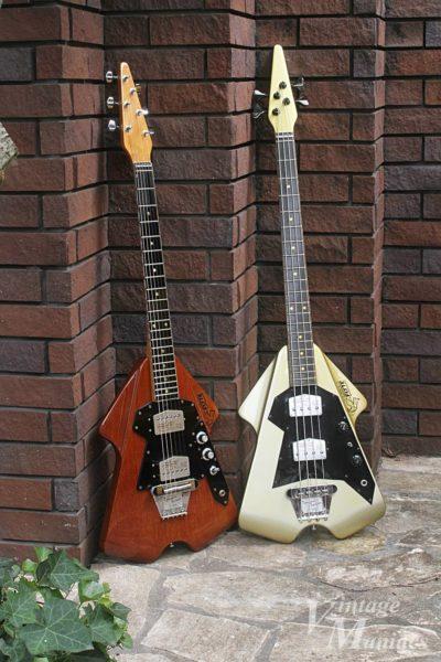バーンズ・フライトのギターとベース