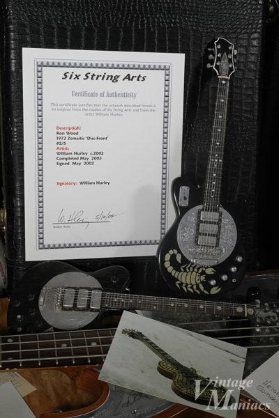 Six String Artsが製作したZemaitisのミニチュア