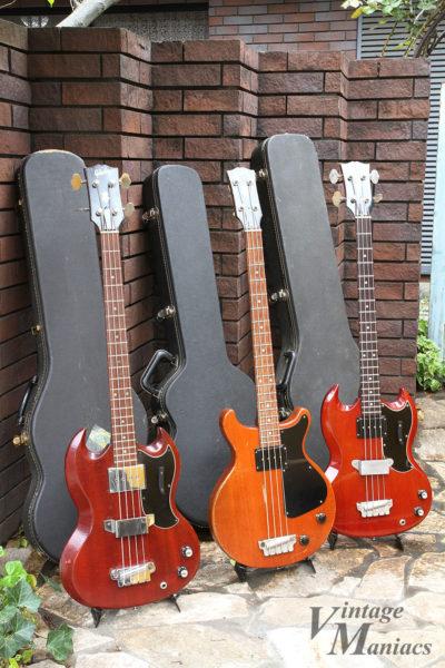 3本のギブソン・ベース