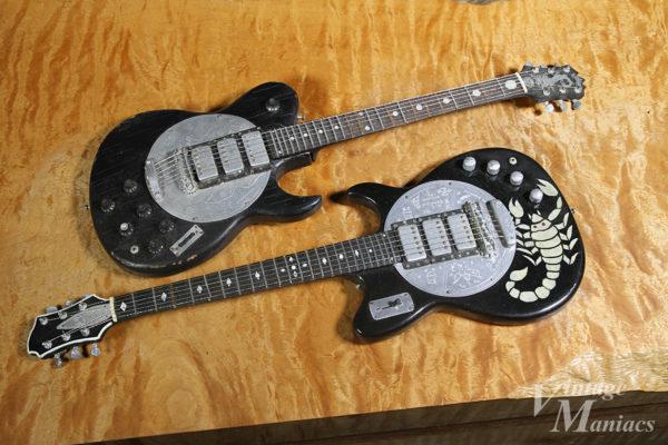 ディスクフロントのZemaitisのミニチュアギター