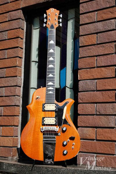 Gibsonのロングヴァイブローラを搭載したBCリッチ・シーガル