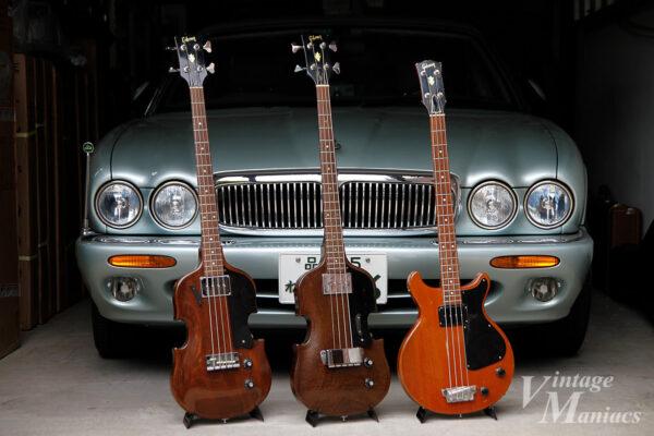 ヴァイオリンシェイプのGibsonベース