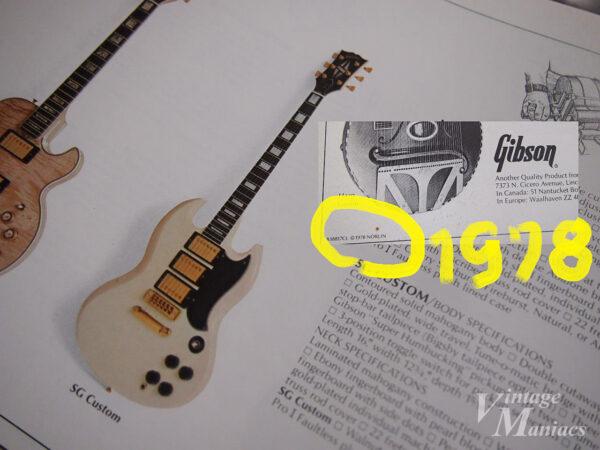 SG Customが掲載されたギブソンのカタログ