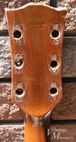 Gibson SG Specialのペグを外したヘッドストック