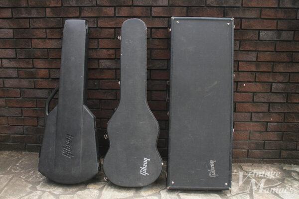 Gibsonのいろいろなシェイプのギターケース