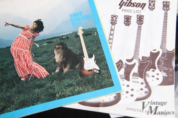 フェンダーとギブソンのカタログ