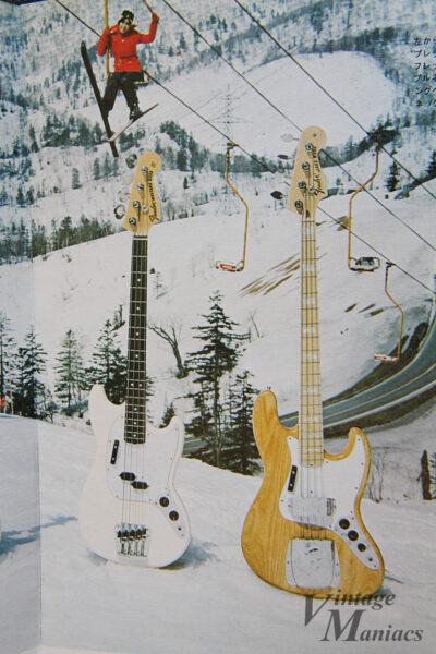 スキー場で撮影したフェンダーのベース
