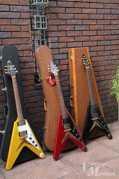 GibsonのフライングVとハードケース