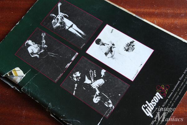 ギブソンのマークシリーズのリーフレット裏表紙