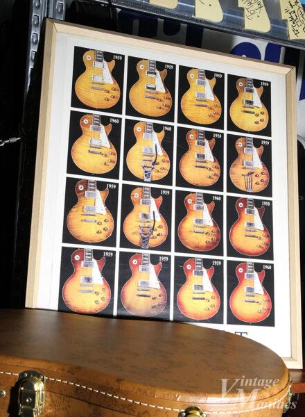 テキサス・ギターショーで購入したレスポールのポスター