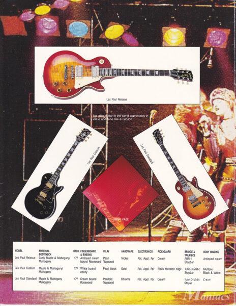 Les Paul Reissueのカタログ写真