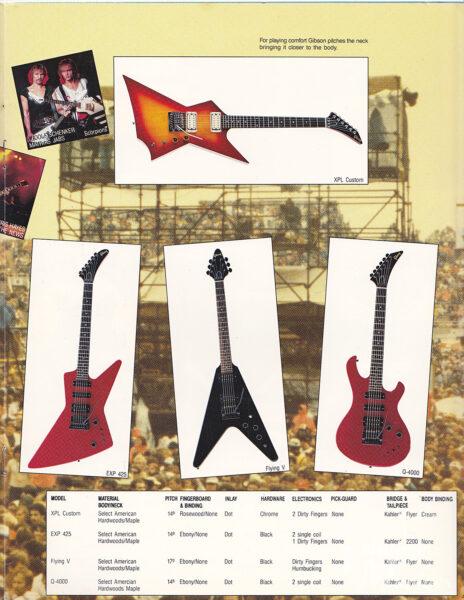 Gibson XPL Customのカタログ